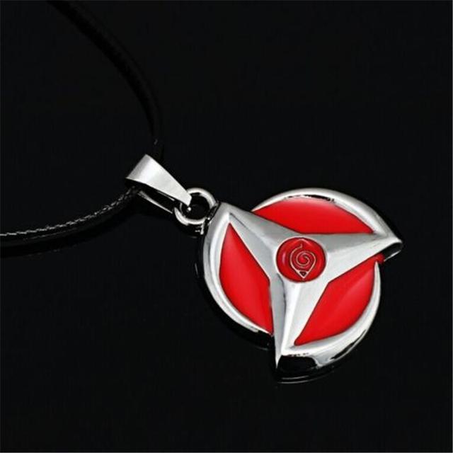 Naruto Shippuden Kakashi Mangekyo Sharingan Metal Pendant