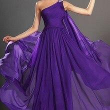 Сказочный одно плечо Sash шифоновое вечернее платье