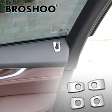 цена на BROSHOO Car 3D Interior Sticker Save Lock Cover Decals For BMW X5 F15 X6 F16 2014 2015 2017 Auto Car Styling Accessorie 4Pcs/Lot
