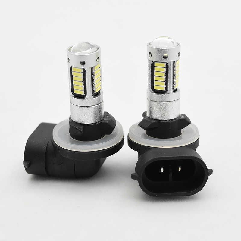 2X H27 881 светодиодный лампы для автомобилей H27W/2 H27W2 Авто Противо-Туманная фара DRL 780Lm 12 V 881 светодиодный лампы дальнего света фары дневного света