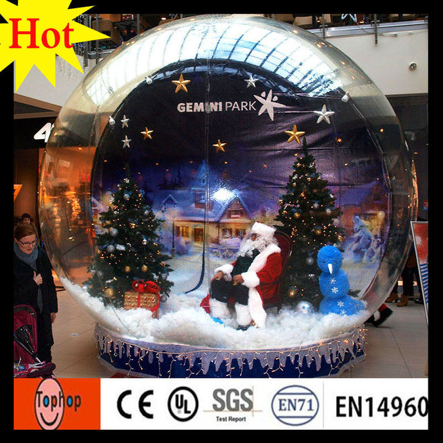 Advrtising Inflatable Christmas Cheap Jamaica Snowflake Snow Globe Dia M Christmas Event Show Toys