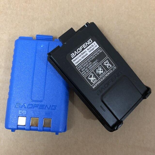 Baofeng UV 5R 무전기 용 리튬 배터리 1800mAh 블랙 카모 컬러 BL 5 양방향 라디오 액세서리 사용 baofeng UV 5RA 5RE 5RPLUS