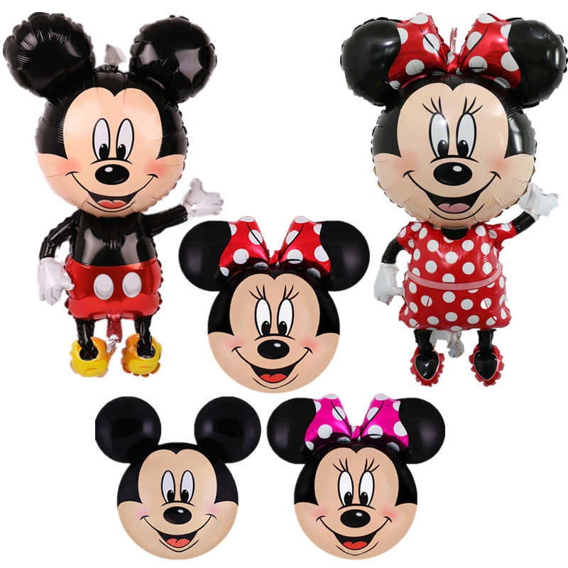 112 Cm Ulang Tahun Mickey Mouse Foil Balon Kartun Mickey Minnie Happy Pesta Ulang Tahun Bayi Shower Baloon Mainan