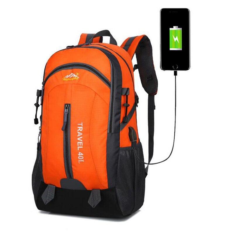 40L Outdoor Backpack Camping Bag Waterproof Laptop Daypack Trekking Climb Back Bags For Men Women Hiking Backpacks Sport Bag