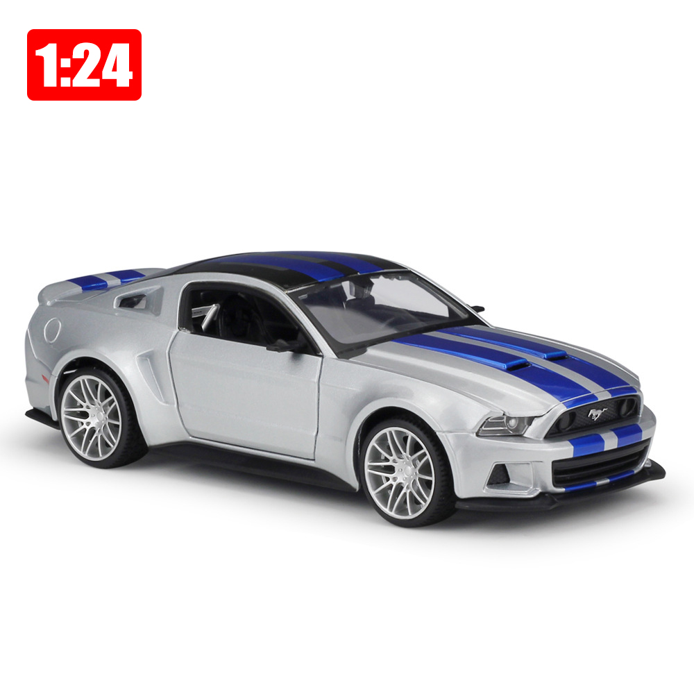 1:24 Ford Mustang Series <font><b>BOSS</b></font> <font><b>GT</b></font> Street Racer Alloy Sports Car Static Models Office Decoration Toy Boyfriend Birthday Gift image