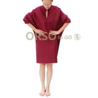 Azterumi Issey Miyake ВЕСНА Новинка 2019 женское повседневное Свободное платье с v образным вырезом рукав летучая мышь до колена платья черный бордовый