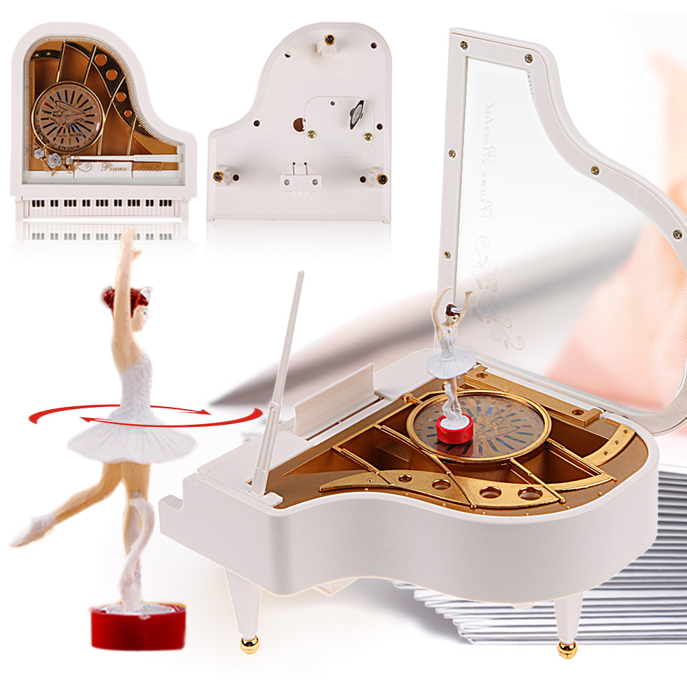 Exquisite Piano Music Boxes for Children Girls Sweet Birthday Gifts Clockwork Type Rotary Classical Ballerina Girl On The Piano