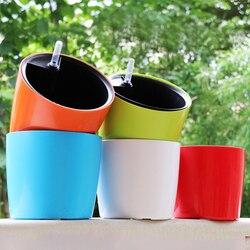 Пять цветов датчик уровня воды автоматический полив интеллектуальные пластиковые цветочные горшки пастырской коррозионной стойкостью цв...