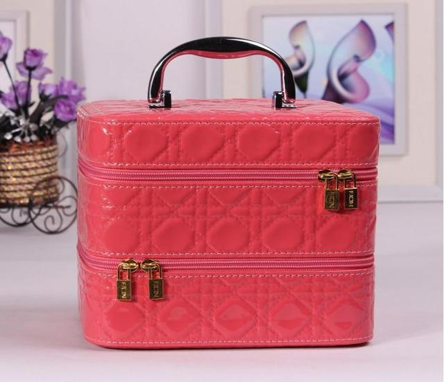 Hot Sale Large Capacity Double Vanity Case Jewelry Box Cosmetic Pouch Makeup  Artist Finishing Package