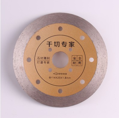 114*20*1.8mm Ceramic Tile Granite Marble Dry Cutting Saw Blades Sintering Diamond Hot Pressed Diamond Turbo Blade Grinding 8 200mm diamond dry cutting disk saw blade plate wheel with long short protective teeth for dry cutting granite sandstone