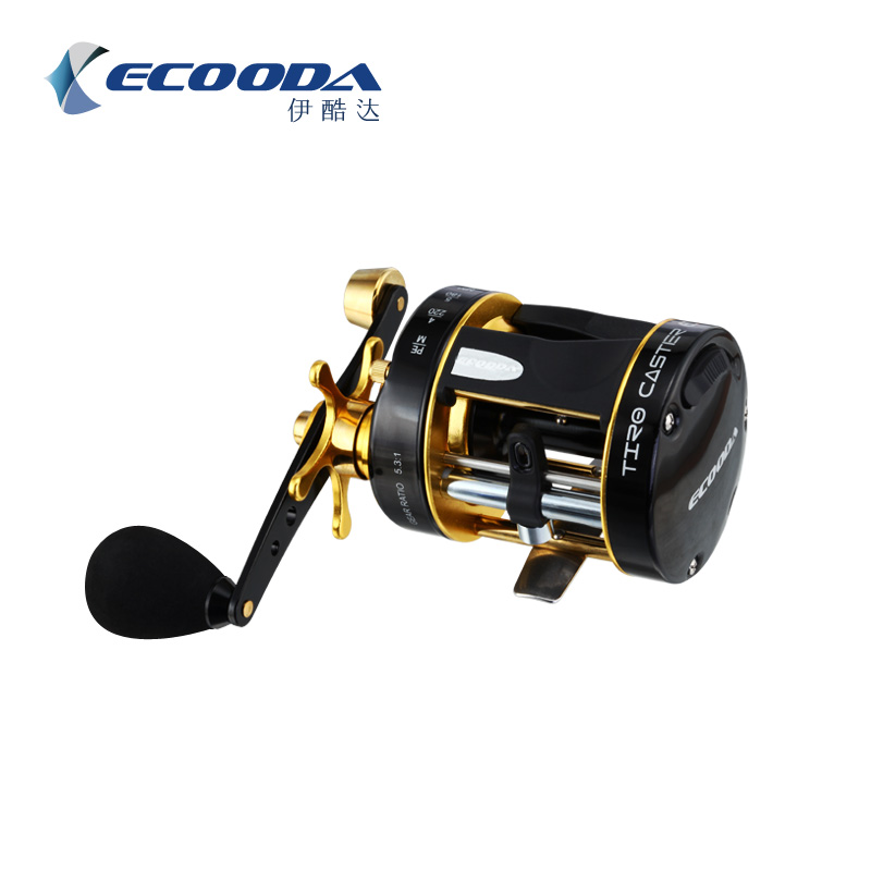 Ecooda Round Baitcaster reels 5.3:1 Gear Ratio Smooth Powerful Tiro Caster Fishing Reels