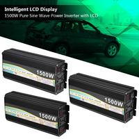 Car Converter Power Inverter LCD Digital Display 15003000W Pure Sine Wave DC 12V to AC 110 Car Accessories
