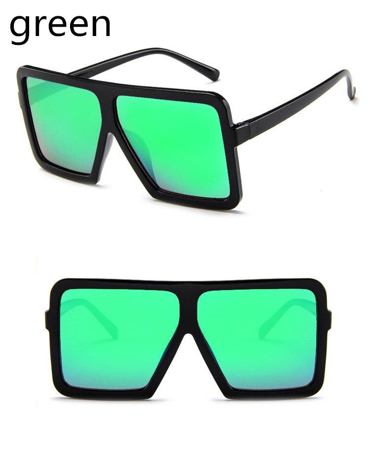 ASUOP2018 large frame new retro ladies sunglasses black radiation fashion men's glasses UV400 international luxury brand square goggles (6)