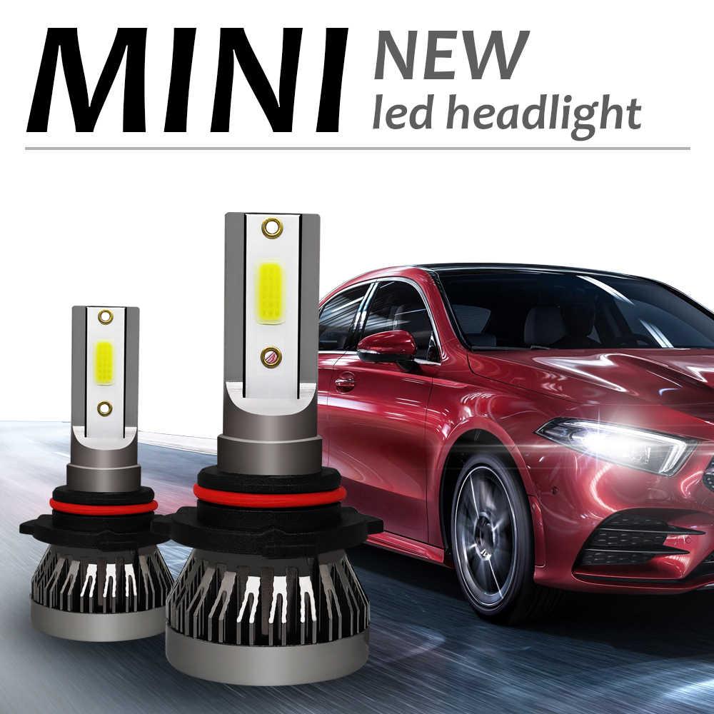 2X 6000K H4 LED H7 H11 H8 HB4 H1 HB3 Auto mini 1 Car Headlight Bulbs 90W 12000LM Car Styling 12V led automotivo