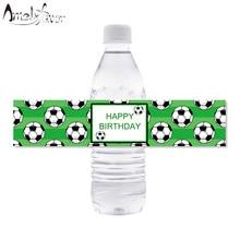 Etiquetas da garrafa de água dos esportes etiquetas da garrafa de água da festa de aniversário dos miúdos