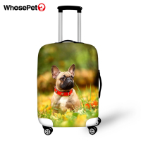 WHOSEPET Cute Bulldogs Prints Pattern Waterproof Suitcase Cover Kawaii Animal Design Dust proof Travel Accessories Luggage Cover