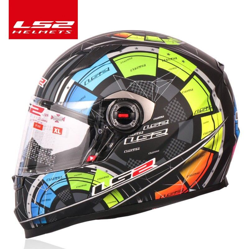 LS2 Full Face motorcycle helmet racing moto helmets isigqoko capacete casque moto ECE approved no pump FF358 andFF352 same color