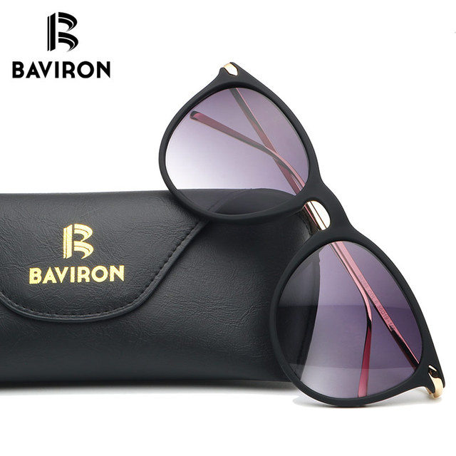 bf1ee731d BAVIRON فرك إطار النظارات الشمسية النساء خفيفة الوزن معكوسة نظارات القط  العين الملونة البلاستيك نظارات سوبر