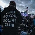 Novo ANTI SOCIAL CLUB Clássico Palácio Kanye Yeezy Skate thrasher Hoodies Homens Pullover Qualit hip hop O-pescoço propósito turnê