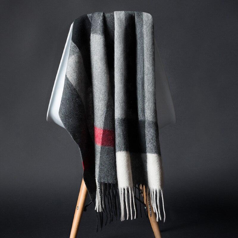 2018 Фирменная Новинка Большой Классический плед шаль 2017 зима теплая Для женщин кашемировый шарф oversize пашмины Тип Цвета шарф коробит qulity