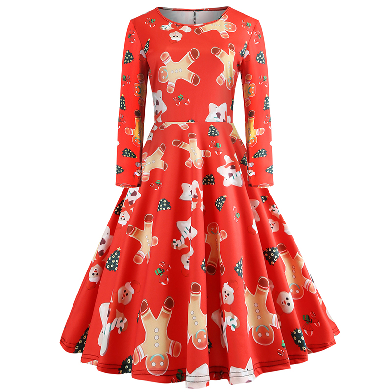406c81b602df Christmas Dress Women Casual Xmas Dress Slim Long Sleeve Plus Size Elegant Office  Party Plaid Chrismas