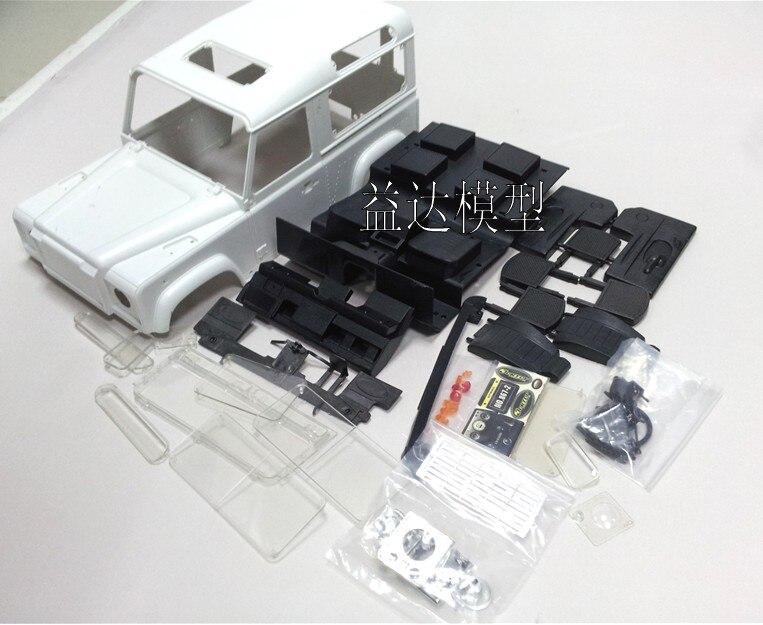 Nieuwe 1/10 Schaal Wielbasis Rock RC crawler auto Hard Plastic body kit voor 1/10 Laand Roverr Defender D90-in Onderdelen & accessoires van Speelgoed & Hobbies op  Groep 3