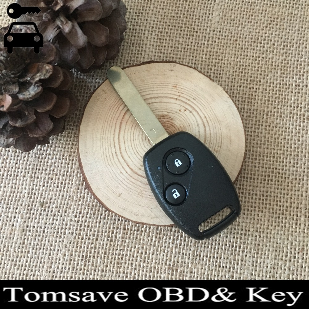 Original Size 2 Buttons Remote Ignition Key For Honda CITY With ID46 Electronic Chip 433Mhz Car Alarm Key Entry Fob
