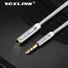 VOXLINK Audio cable 3.5mm jack for iphone Samsung 3.5mm male to Female Car Auxiliary Audio Stereo Cable MP3/MP4 Speaker aux cord coiled car stereo aux cable 3 5mm audio cable for insignia ipod iphone speaker audio
