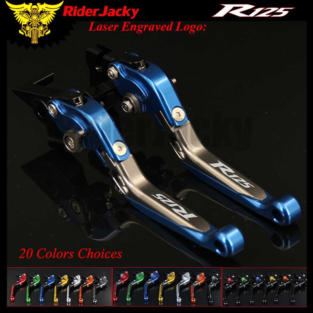 RiderJacky 1 пара складной выдвижной рычаг сцепления для мотоцикла Yamaha YZFR125 YZFR 125 2008 2011