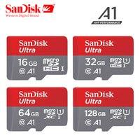 D'origine Sandisk Micro SD carte A1 64 gb 128 gb 100 mb/s TF carte SDHC/SDXC 16 gb 32 gb NOUVELLE arrivée carte mémoire + l'emballage de détail