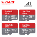 Original Sandisk Micro SD card A1 64gb 128gb 100Mb/s TF card SDHC/SDXC 16gb 32gb NEW arrival memory card+retail package