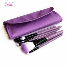 7Pcs Makeup Brush Set Foundation Eyeshadow Eyelashes Lip Brush Professional Make Up Brushes Toiletry Kit with Cosmetic Bag