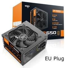 Aigo 650 Вт компьютерный блок питания ATX mini psu itx 80 plus Бронзовый ЕС разъем Активный гибкий ITX PC Питание 12 В