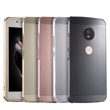 For MOTO G5 Case Brushed mirror Back Cover for Plus G5+ Plating Aluminum Metal Frame Motorola