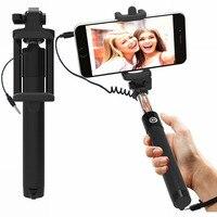 Selfie monopiede cablato esteso portatile universale adatto per iPhone 6 6s Plus SE Galaxy S7 S6 Edge Note 5 9 Stick accessori mobili