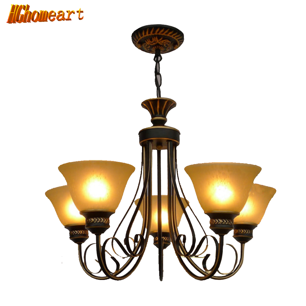 Hghomeart American country living room chandelier led bedroom lamp pastoral antique creative Mediterranean restaurant chandelier korean princess wrought lamp iron bedroom led lamp american pastoral style living room children chandelier