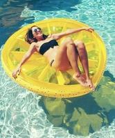 Watermelon Pool Float Beach Lemon Swimming Toy Fruit Slice Float Floatie Air Mattress Swim Ring Pool Inflatable Toy