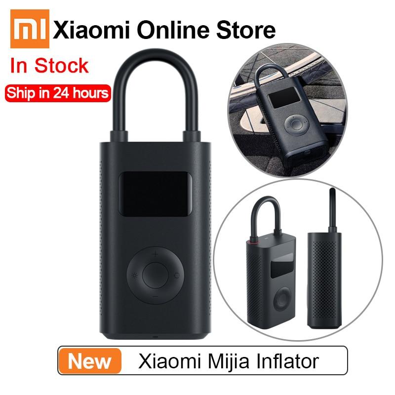 Xiaomi Mijia Inflator Pressure Digital Monitoring Compressor Tire Portable Built-in Battery Multi-nozzle For Smart Home