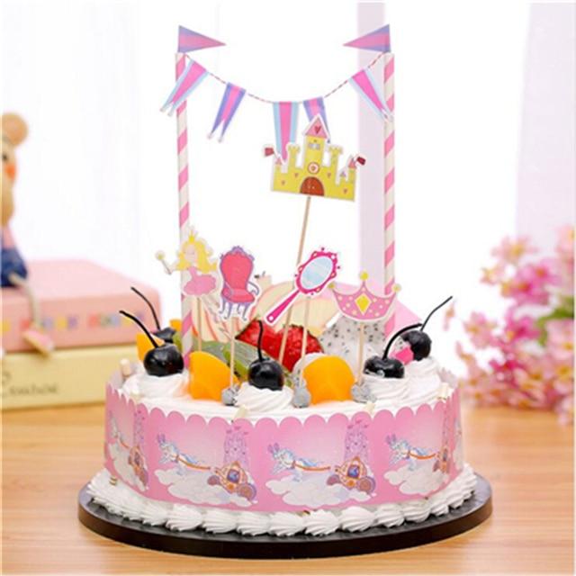 Aliexpress Buy 1set Cartoon Princess Crown Style Birthday Cake