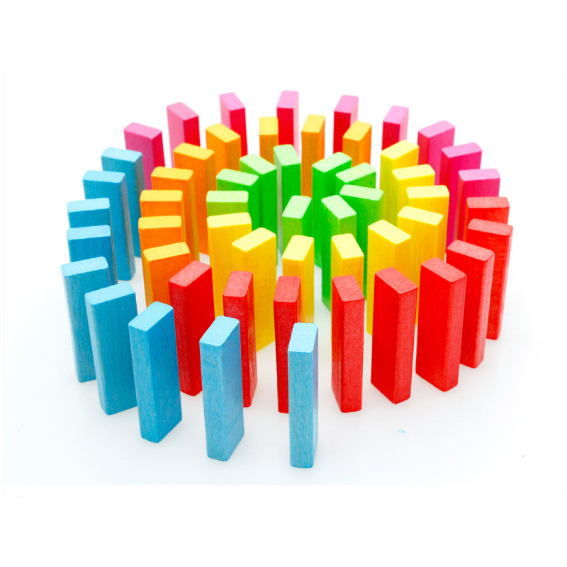 50PCS 2 Style Children Kids Wooden Domino Games Toys Number Gifts For Baby Bebe Boys Girl Building Blocks Early Educational