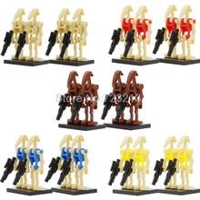 4 pçs/lote Star Wars Batalha Droid Figura Starwars Modelo Conjunto kits de Blocos de Construção de Tijolos Brinquedos para As Crianças