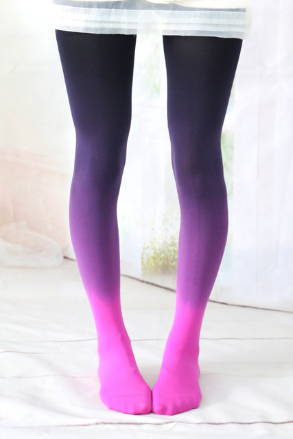 Japanese Harajuku Colored Fashion Tights Stockings Female Spring Summer Velvet Pantyhose Tight 5 Color