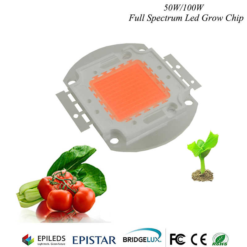 Hydroponice 1W 3W 5W 50W/100w Led Grow Chip Epistar 35mil led chip ,full spectrum 400nm-840nm for indoor plant grow lighting