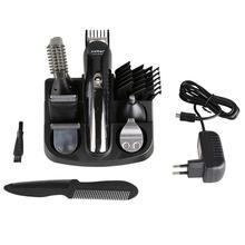 Kemei KM600 Professional Hair Trimmer 6 In 1 Hair Clipper Shaver Sets Electric Shaver Beard Trimmer Hair Cutting Machine