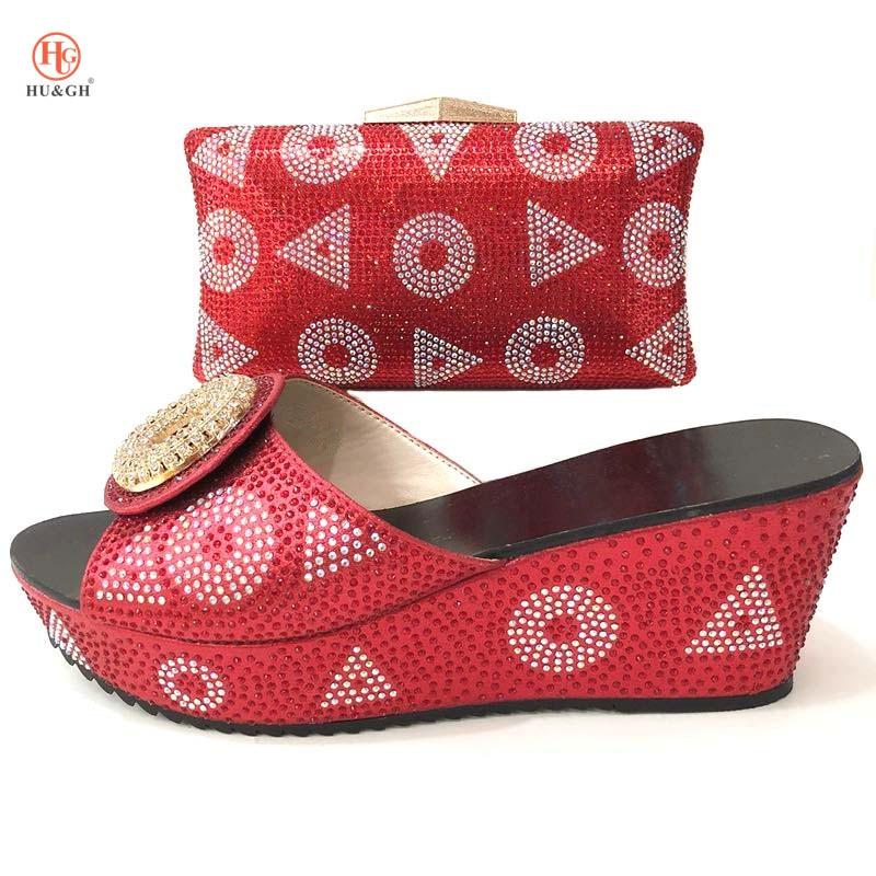 Con Zapatos Set Color Mujeres Nuevo rojo Piedra Bolsos De Africana Decorado Las Boda Y Oscuro Bolso Italiano A Negro oro Juego morado Cielo azul Rojo EZCPq