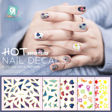 Low price clearance nail sticker small fresh style a variety of self-adhesive 3D fashion flower waterproof.