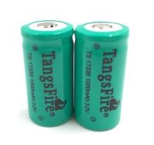TangsFire CR123A 3V 17335 1000mAh Li-on Rechargeable Batteries 2PCS