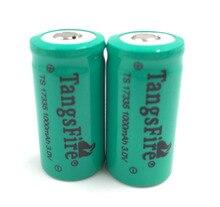 Cr123a 3 V Tangsfire 17335 1000 Mah Li-em Baterias Recarregáveis 2 Pcs