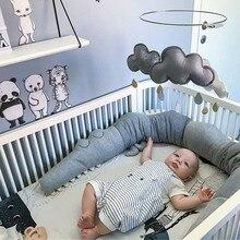 185 см кровать для новорожденных бампер детская подушка-крокодил бампер Детская Кроватка Забор Хлопок Подушка Детская комната постельные принадлежности детская Защитная