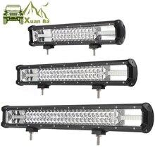 Barra de luz de trabajo Led de Triple fila de 216W y 324W para Combo de luces de conducción, 12V y 24V, para camiones todoterreno, UTV, ATV, UAZ, 4x4, 4WD